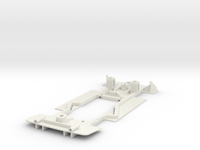 Chassis for Slot.It Opel Calibra in White Natural Versatile Plastic