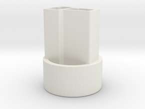 GM round connector housing in White Natural Versatile Plastic