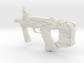1:6 Miniature Halo 5 SMG  in White Natural Versatile Plastic