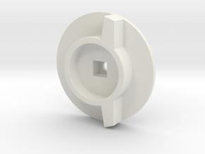 Sanwa M12 wheel adapter in White Natural Versatile Plastic