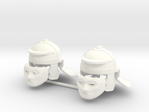 ROMAN CAVALRY HELMET 2 (with Face Mask) in White Processed Versatile Plastic