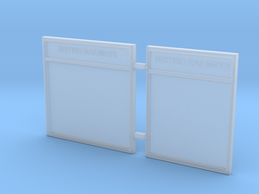 EP729 O gauge notice boards in Smooth Fine Detail Plastic