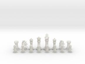 Wire Chess  in White Natural Versatile Plastic