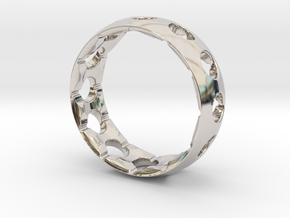 Original Aero Ring in Rhodium Plated Brass