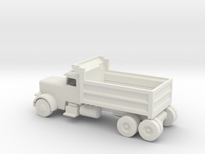 S Scale Dump Truck in White Natural Versatile Plastic