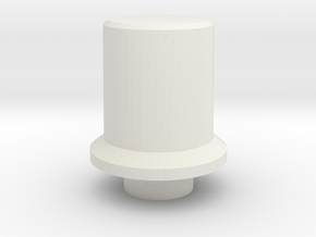 T6 Port Side Dimmer Switch Pot Knob in White Natural Versatile Plastic