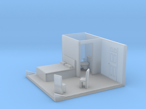 N Scale Bedroom Interior in Smooth Fine Detail Plastic