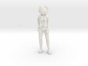 Cyber Kitty in White Natural Versatile Plastic