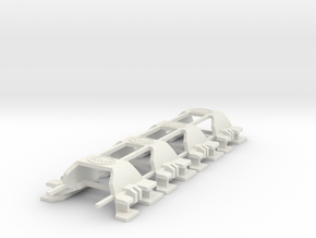 HWP Tyco 440X2 Wide-Body Clips 4-Pack in White Natural Versatile Plastic