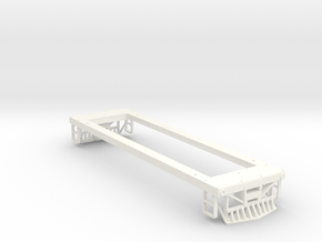 On 30 29 Ton Box Cab Frame  in White Processed Versatile Plastic