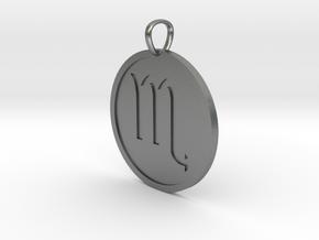 Scorpio Medallion in Natural Silver