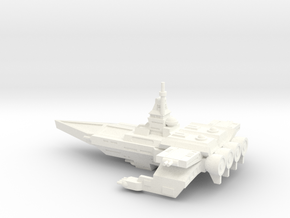 TCS Tiger's Claw - Bengal-class Strike Carrier in White Processed Versatile Plastic