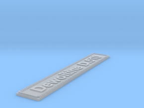 Nameplate Dewoitine D.510 in Smoothest Fine Detail Plastic