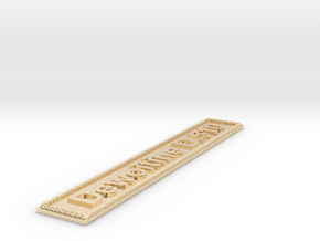 Nameplate Dewoitine D.510 in 14k Gold Plated Brass