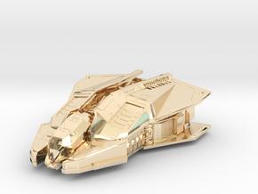 Vulture: Elite Dangerous in 14k Gold Plated Brass: 1:500
