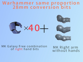 MK Galaxy Free combination of right hand in Smooth Fine Detail Plastic