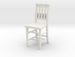 Church Chair in White Natural Versatile Plastic