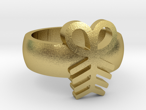 Adinkra Aya RingSize 6.5 in Natural Brass