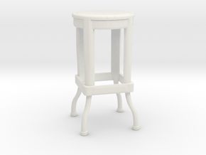 Stool in White Natural Versatile Plastic
