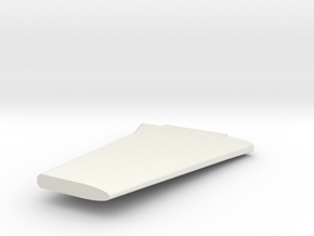 P-51 wing (clipped) in White Natural Versatile Plastic
