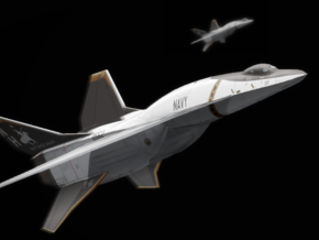 A/S-78A Activator Space Fighter in Black Natural Versatile Plastic