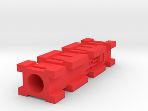 Back-to-Back Nerf Rails Adapter (3 Slots) in Red Processed Versatile Plastic