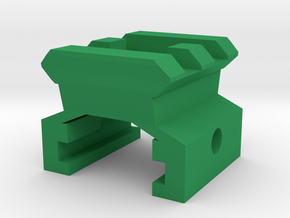 Nerf Rail to Picatinny Rail Adapter (2 Slots) in Green Processed Versatile Plastic