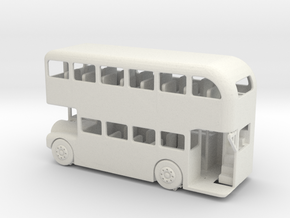 S Scale Double Decker Bus in White Natural Versatile Plastic