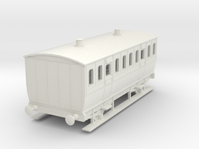 0-64-mgwr-4w-3rd-class-coach in White Natural Versatile Plastic