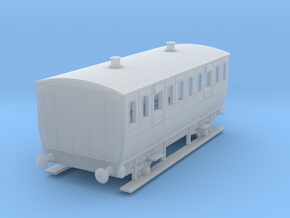 0-97-mgwr-4w-3rd-class-coach in Smooth Fine Detail Plastic