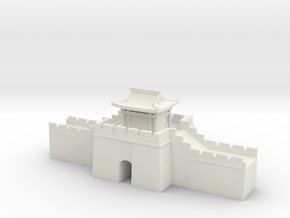 the grat wall of china 6mm 1/285  gate pass roof  in White Natural Versatile Plastic