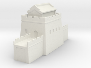 the great wall of china 1/600 tower l roof  in White Natural Versatile Plastic
