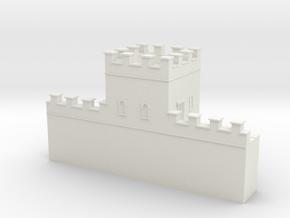 Hadrian's  wall 1/600 turret  in White Natural Versatile Plastic