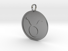 Taurus Medallion in Natural Silver