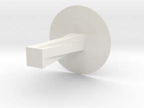Helical Spiral Table in White Natural Versatile Plastic: Large