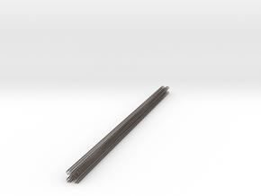hexacore_deck_post_4cmX110cm_hexagrid- in Polished Bronzed-Silver Steel