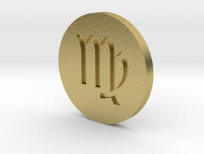 Virgo Coin in Natural Brass