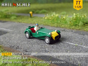 Lotus Seven (TT 1:120) in Smoothest Fine Detail Plastic