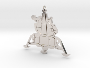 Lunar Lander Pendant in Rhodium Plated Brass