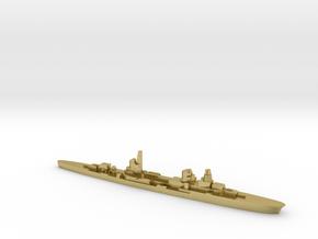 Raimondo Montecuccoli light cruiser 1:3000 WW2 in Natural Brass