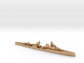 Luigi Cadorna light cruiser 1:3000 WW2 in Natural Bronze