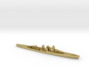 Giuseppe Garibaldi light cruiser 1:3000 WW2 in Natural Brass