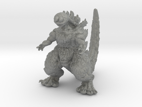 Godzilla Cookie Monster Kaiju Miniature for games  in Gray PA12