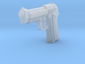 1:3 Miniature Beretta M9 Semi-Automatic Pistol in Smooth Fine Detail Plastic