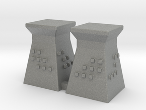 2mm / 3mm Scale Guard Tower (x2) in Gray PA12