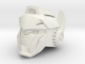 Doubletake Head for Last Knight Barricade in White Natural Versatile Plastic: Small
