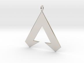 Apex Legends Pendant in Rhodium Plated Brass