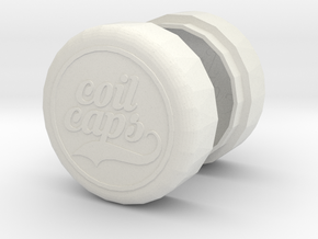 COIL CAPS in White Natural Versatile Plastic