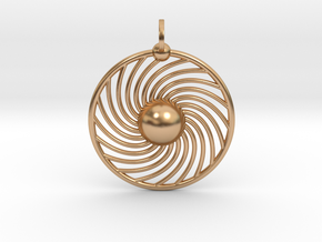 Hydrogen Atom Pendant in Polished Bronze