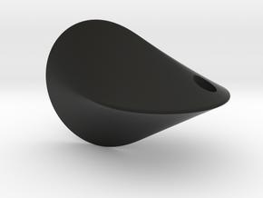 Oloid | key ring | pendant in Black Premium Versatile Plastic
